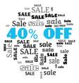 a 40 percent sale text cloud vector image vector image
