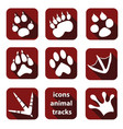 a set of tracks of wild animals vector image