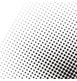 abstract dotted black and white pattern circle vector image