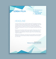 abstract style letterhead vector image vector image