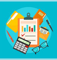 accounting concept background flat style vector image
