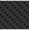 Animal footprint seamless dark pattern vector image