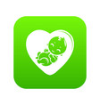 baby icon green vector image vector image