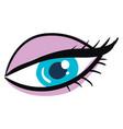beautiful blue eye on white background vector image
