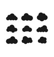 black clouds collection in flat design black vector image vector image