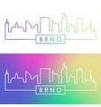 brno skyline colorful linear style editable vector image vector image