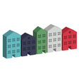 building housing street in 3d vector image vector image