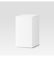 Cardboard box on white background White container vector image vector image
