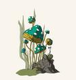 cartoon fungus vector image vector image