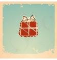 Christmas Vintage Gift Box vector image vector image