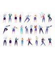 creative marketing agency people character set vector image vector image