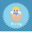 Cute baby boy card vector image vector image