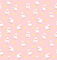 cute little sheep seamless pattern background vector image vector image