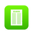 declaration of independence icon digital green vector image vector image