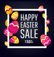 easter sale banner with place for text vector image vector image