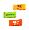 fabric tag labels vector image