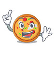 finger pizza mascot cartoon style vector image