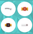 flat icon sanitary set of pump valve drain vector image vector image