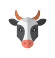 flat style cow icon isolated on a white background vector image vector image