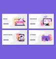 graphic design flat banner set vector image vector image