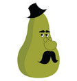 green pear on white background vector image vector image