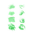 green watercolor set vector image vector image