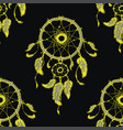 hand-drawn dreamcatcher with feathers seamless vector image vector image