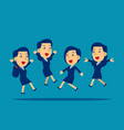 happy office workers jumping up concept business vector image