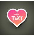 Heart sticker labe vector image