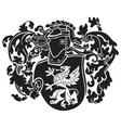 heraldic silhouette No44 vector image