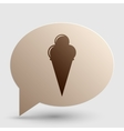 Ice Cream sign Brown gradient icon on bubble with vector image vector image