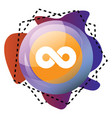 icon a twoo logo bubble and colorful graphics vector image vector image