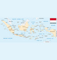 indonesia map with flag vector image vector image