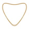 jewelry golden chain heart shape vector image