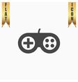 Joystick flat icon vector image vector image
