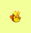 king monkey mascot logo vector image vector image