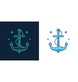 Linear style icon of an anchor vector image vector image