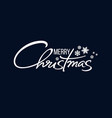merry christmas handwritten lettering white text vector image vector image