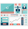 modern flat symbols and elements user interface vector image
