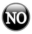 No sign button vector image vector image