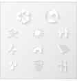 paper eco icons vector image vector image