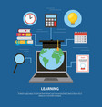 people learning concept vector image vector image