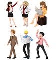 People with different professions vector image vector image
