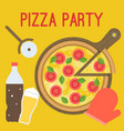 pizza party vector image