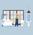 plumber repair service male vector image