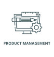 product management line icon linear vector image vector image