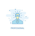 professional line concept simple line icon vector image