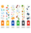 recycling garbage separation collection and vector image