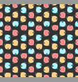 retro seamless pattern with multi color circles vector image vector image