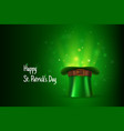 saint patricks day greeting card color vector image vector image